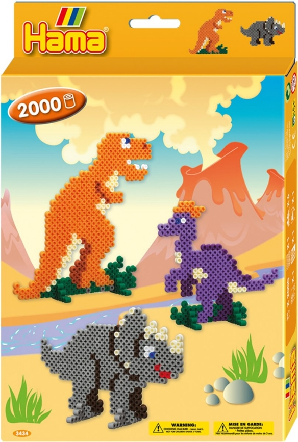 Hama midi strijkkralen, Dino world, set 2000 st