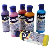 Creall-pearl parelmoerverf, 80 ml, assortiment 6 flacon
