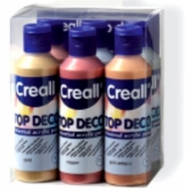 Creall Top Deco metallicverf, 80 ml, assortiment 6 flacon