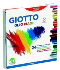 Giotto olio oliepastels, assortiment 24 st