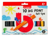 Bruynzeel Kids big point viltstiften, assortiment 10 st
