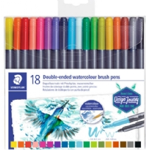 Staedtler Marsgraphic aqua brush Duo penseelstiften, assortiment 18 st