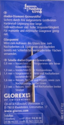 Diamantstift/glasgraveerstift 1,0 mm