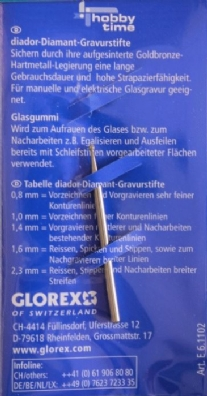 Diamantstift/glasgraveerstift 1,6 mm