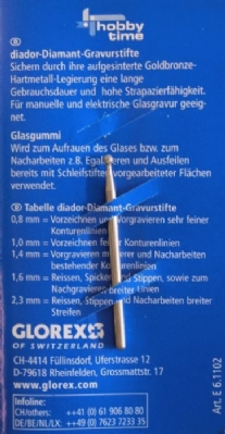 Diamantstift/glasgraveerstift 2,3 mm