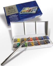 Winsor and Newton Cotman water colours, assortiment 12 kleuren