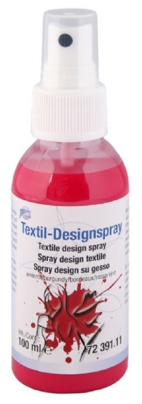 Textiel design verfspray, 100 ml, wijnrood