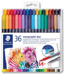 Steadtler Marsgraphic aqua brush Duo Penseelstiften, assortiment 36 st
