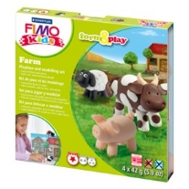 Fimo kids form and play set farm