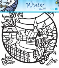 Winter designs peel-off sticker 1 vel 20 x23 cm