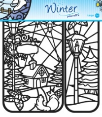 Winter designs peel-off sticker 1 vel 20 x 23 cm