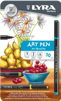 Lyra Hi-Quality Art Pen viltstiften, assortiment 10 st