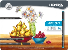 Lyra Hi-Quality Art Pen viltstiften, assortiment 20 st