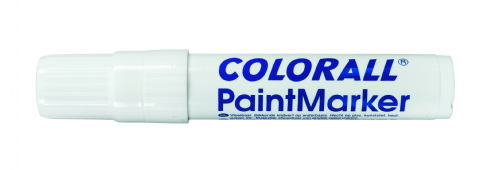 Colorall paintmarker giant blokpunt (2-15 mm), wit