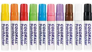 Colorall paintmarkers giant blokpunt (2-15 mm), assortiment 10 st