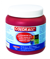 Colorall schoolbordverf, 250 ml, rood