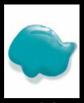 Creall-Glass stickerverf/windowcolour, 80ml. Turquoise